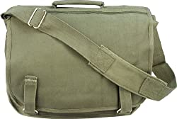 Olive Drab Danish European School Shoulder Messenger Bag