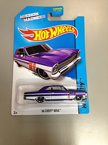 Hot wheels Mission Madness '66 chevy nova RARE hw city special scavenger hunt edition vehicle 3/4 hw city 2014 - 1