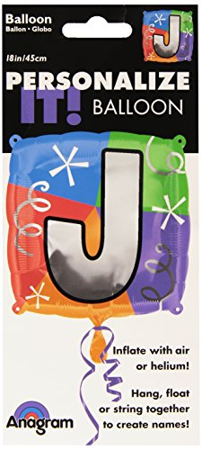Anagram International Letter J Quad Package Balloon, 18""