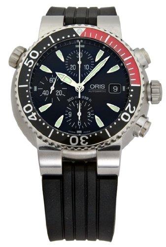 Oris Men's 674 7542 7154RS Divers Titan Chronograph Automatic Watch
