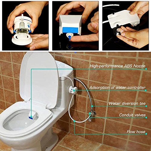 KEDSUM Bidet Fresh Water Spray Non Electric Bidet  Best Micro Portable  Toilet Seat Attachment U0026starf;u0026starf;u0026starf; 21 Customer Reviews