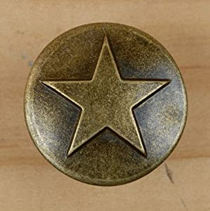 Amazon Com 25 Antique Brass Small Star Upholstery Framing