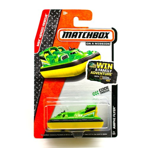 AMPHI FLYER (GREEN) * 2014 MBX HEROIC RESCUE * Matchbox 1:64 Scale Basic Die-Cast Vehicle (#74 of 120)