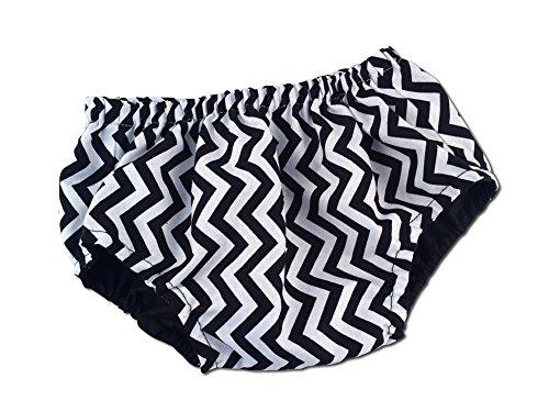 Juxby Kids Baby-Black-White Chevron Diaper Cover-12To24M