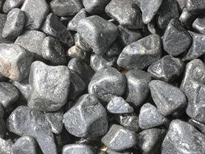 150 kg black basalt kiesel 3 6 cm kieselsteine for Kieselsteine baumarkt