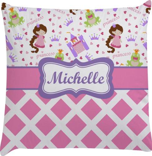 Princess & Diamond Print Personalized Euro Sham Pillow Case front-984653