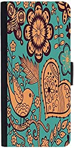 Snoogg Seamless Texture With Flowers Graphic Snap On Hard Back Leather + Pc F...