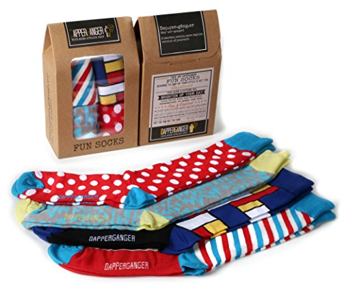 DapperGanger Mens Fun Dress Socks - Barber Edition