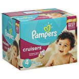Pampers Diapers, Size 4 (22-37 lb), Sesame Street 80 diapers