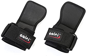 Adjustable Wrist Support Wrap Weight Lifting Straps Palm Protecting Grip Pads Gloves