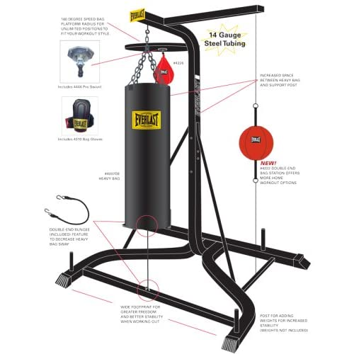 Amazon.com : New Everlast Heavy Duty Triple Threat Gym