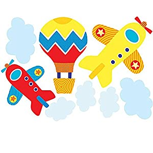 Wallies Wallpaper Mural, 2-Sheet, 15223 Up Up & Away, One Size, Up Up & Away