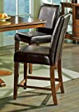Steve Silver Plato Counter Height Stool in Brown (Set of 2) show