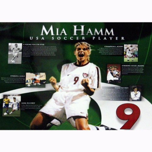 Mia Hamm Timeline 16 Inch X 20 Inch Photo