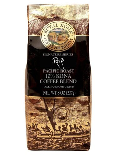 Hawaii Royal Kona Coffee 8 oz. Ground 10% Kona Roy's Signature Series
