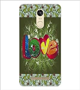 PrintDhaba Love D-3070 Back Case Cover for XIAOMI REDMI NOTE 3 PRO (Multi-Coloured)