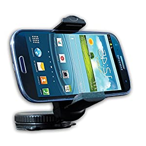 Mobile Phone Car Mount for Windshield & Dashboard from Do Good Have Fun - Fits iPhone 5, 5c, 4 & 4S, Samsung Galaxy S, S4 & S3. Universal Mount Fits Most Cell Phones & Mobile Devices like HTC, Motorola, Blackberry Q Series, Garmin & TomTom GPS. Customer Satisfaction Guarantee.
