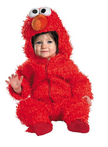 Unisex-Baby - Elmo Fuzzy Toddler Costume 12-18 Month Halloween Costume