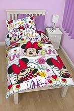 Comprar Set de edredón con diseño de Minnie Mouse, para cama individual