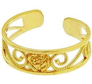 Yellow Gold Rose Toe Ring (14K Gold)