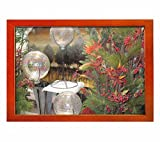 Beautiful Christmas flowers arrangement - Art Print Wall Walnut Wood Framed Picture (12x8 inches) Sale