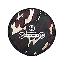 Hyperwear SandBell Sandbag Training Free Weight (Pre-filled), Camo, 12 lb