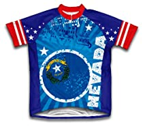 Nevada Short Sleeve Cycling Jersey for Men - Size 3XL