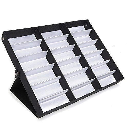 Amzdeal Sunglasses Display Case 18 Slot Sunglass Eyewear Display Storage Case Tray (Eyeglasses Display Case compare prices)