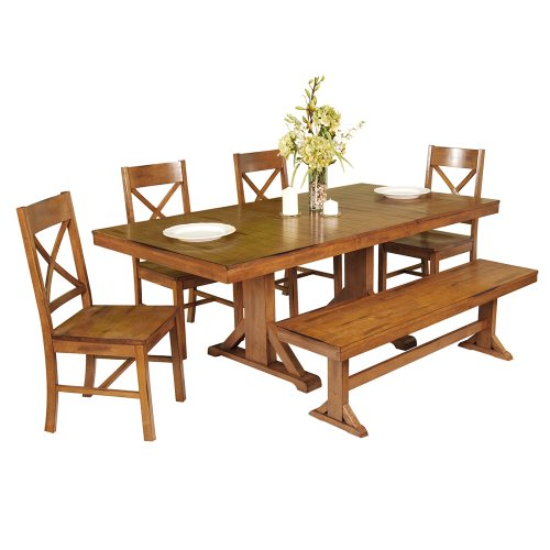 Cheap price we furniture 6 piece wood dining set for Cheap dining sets