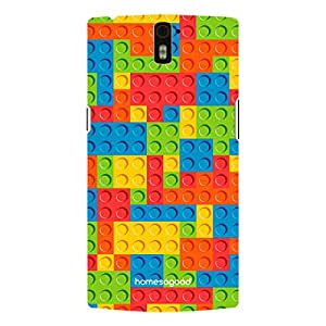 HomeSoGood Block Games Pattern Multicolor 3D Mobile Case For OnePlus One (Back Cover)