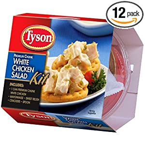 Tyson Premium Chunk White Chicken Salad Kit, 4.57 Ounce (Pack of 12)