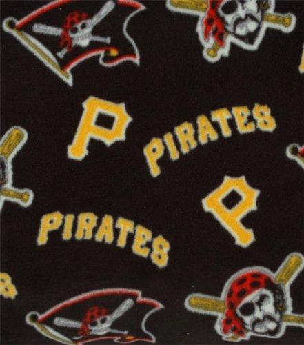 Mlb Pittsburgh Pirates Baseball Fleece Fabric Print By The Yard