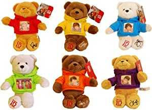 1d One Direction 9 Collectible Bean Bear Plush Set Of 6 by Commonwealth Toys