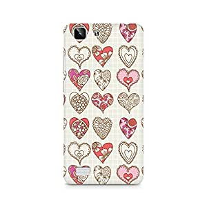 Mobicture So Many Hearts Premium Printed Case For Vivo X5