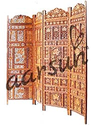 Aarsun- Hand Carved Wooden Partition Screen in Sheesham Wood/ Room Divider