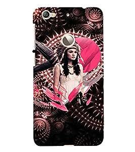 PrintVisa Stylish Cool Girl Tribal Pink 3D Hard Polycarbonate Designer Back Case Cover for LeEco Le 1S
