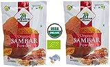 Organic Sambar Powder - ★ USDA Certified Organic - ★ European Union Certified Organic - ★ Pesticides Free - ★ Adulteration Free - ★ Sodium Free - Pack of 2 X 3.5 Ounces (7 Ounces) - 24 Mantra Organic