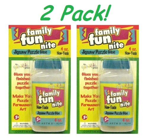 Picture of Family Fun Nite 2 Pack! Jigsaw Puzzle Liquid Glue NON-Toxic each bottle is 4 oz. (B003VKVFK0) (Puzzle Accessories)