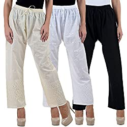 NumBrave Womens Sharpened look Cotton Trouser