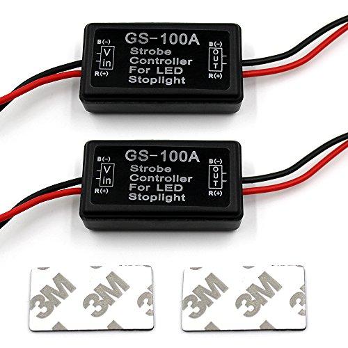 """Purishion 2X Flash Strobe Controller Flasher Module For Led Brake Light Tail Stop Light 12-30V """
