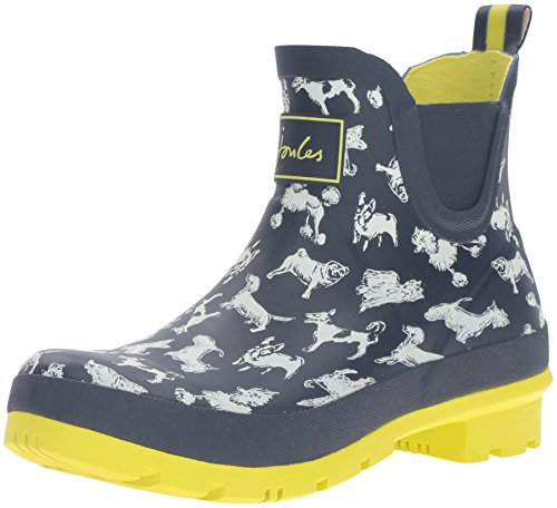 Joules Women's Wellibob Rain Boot, Marine Navy Scribbly Dog, 7 M US (Joules Rain Coat compare prices)