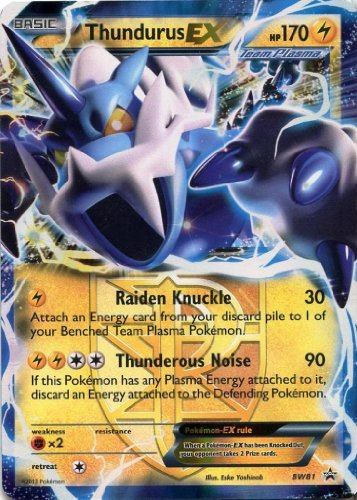 Pokemon - Thundurus Ex Hp 170 Bw81 Promo