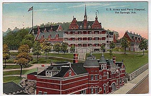 Postcard US Army-Navy Hospital~Hot Springs, Arkansas