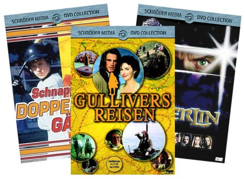 Family-Package *Merlin + Gullivers Reisen + Schnappt den Doppelgänger* [5 DVDs]
