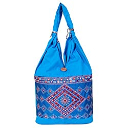 Womaniya Handicraft Jhola Canvas Handbag for Women Girls Men Boys