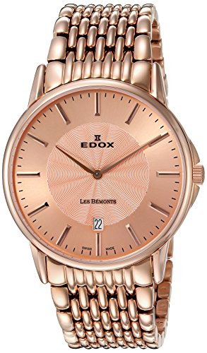 Edox-Mens-56001-37RM-ROIR-Les-Bemonts-Analog-Display-Swiss-Quartz-Rose-Gold-Watch