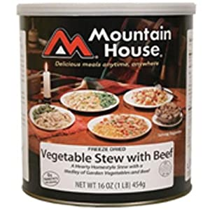Mountain House Vegetables Stew w  Beef #10 Can Freeze Dried Food - 6 Cans Per Case... by Mountain House