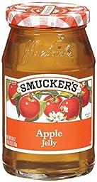 Smucker\'s, Apple Jelly, 18oz Glass Jar (Pack of 2)