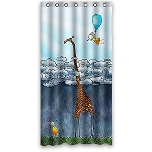 custom it giraffe design stall mildew resistant waterproof bathroom fabric shower. Black Bedroom Furniture Sets. Home Design Ideas