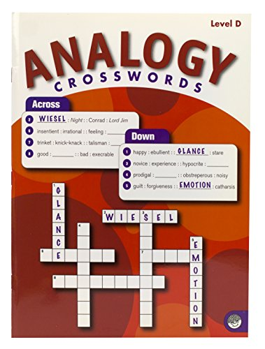 MindWare - Analogy Crosswords: Level D - 50 Puzzles - Book 1 - Great For Standardized Tests - Challenging and Engaging - Grades 8-12